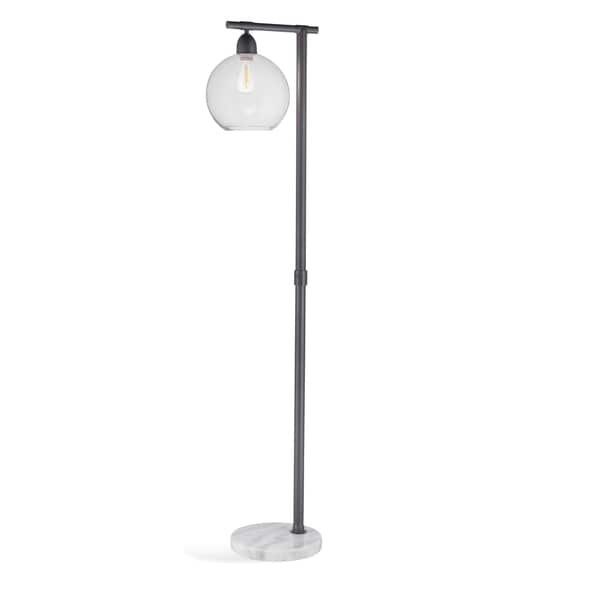 Bassett Mirror Company Hyde Grey Metal 62-inch Floor Lamp