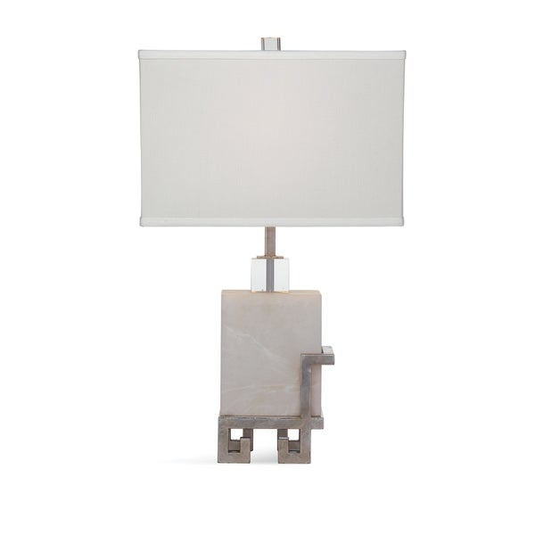 Brie 28-inch Silver Marble Table Lamp
