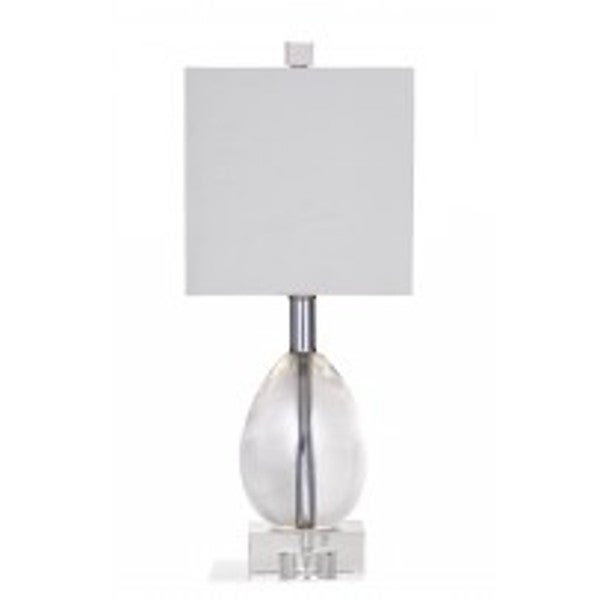 Bassett Mirror Company Maria Clear Crystal 17-inch Table Lamp
