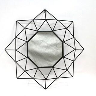 Metallic Framed Octogonal Wall Mirror