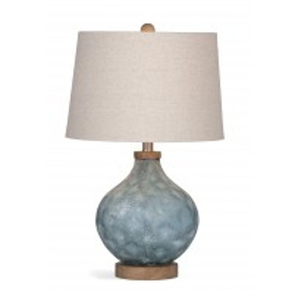 Pawley 24-inch Blue Glass Table Lamp
