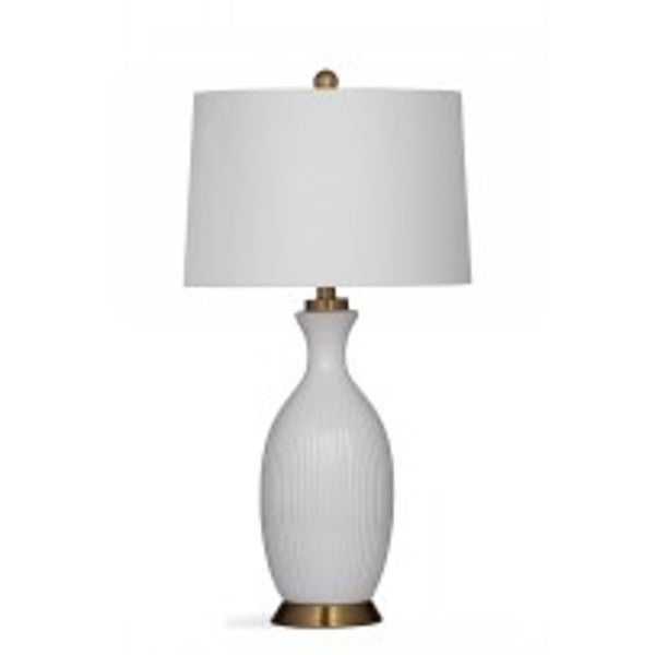Bassett Mirror Company Gadsen White Resin 29-inch Table Lamp