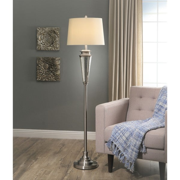 Abbyson Baron Mercury Glass 63.5-inch Floor Lamp