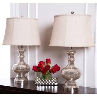 Abbyson Marston Mercury Glass 24-inch Table Lamp (Set of 2)