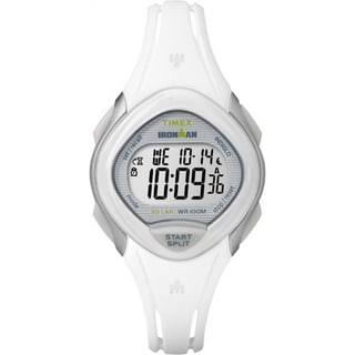 Timex Women's TW5M12400 Ironman Sleek 30 White Resin Strap Watch (Option: White)