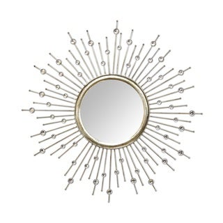Stratton Home Decor Lucy Metal with Silver Acrylics Mirror