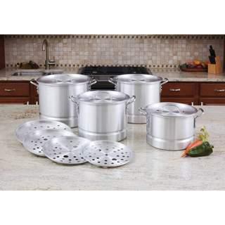 LaCusine Aluminum 12-piece Steamer Stockpot Set