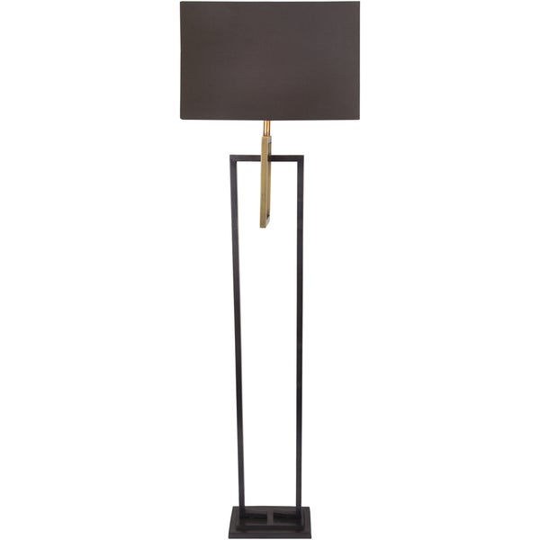 Erythis Floor Lamp with Brown Base and Brown Shade