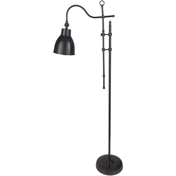 Dekel Floor Lamp with Black Base and Black Shade