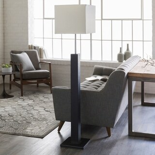 Boronia Floor Lamp with Black Base and White Shade