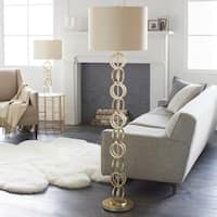 Warest Floor Lamp with Gold Base and Gold Shade
