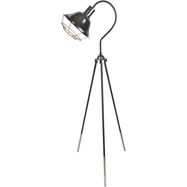 Severa Floor Lamp with Black Base and Black Shade