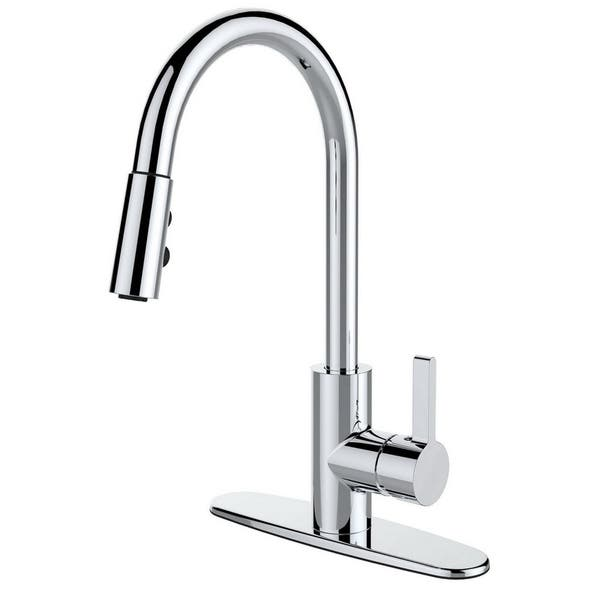 Shop Single Handle Pull-down Deck Mounted Kitchen Faucet ...
