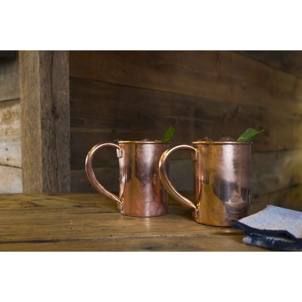 Sinkology Unlined and Uncoated Extra Thick Pure Copper 20-oz Classic Moscow Mule Mug (Set of 2)