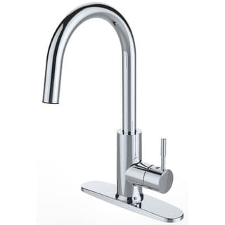 Single Handle Deck-mounted Chrome Finish Kitchen Faucet - Chrome/Clear
