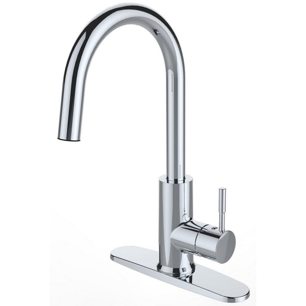Shop Single Handle Deck Mounted Chrome Finish Kitchen Faucet