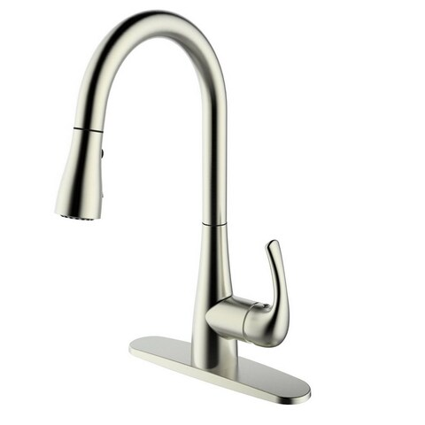Single Handle Pull-down Deck-mounted Brushed Nickel Finish Kitchen Faucet