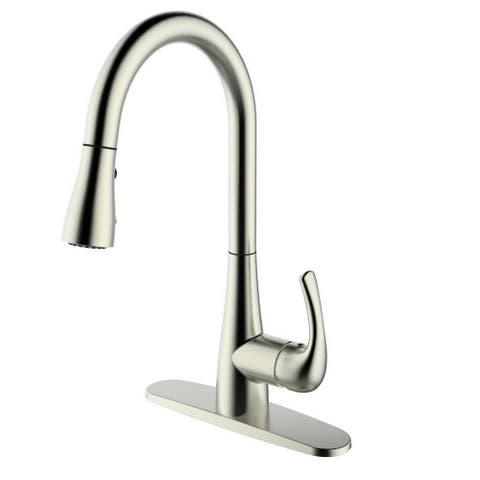 Single Handle Pull-down Deck-mounted B. Nickel Finish Kitchen Faucet