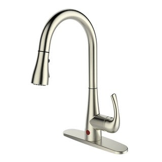 Single Handle Pull-down Deck-mounted Automatic Sensor Brushed Nickel Finish Kitchen Faucet