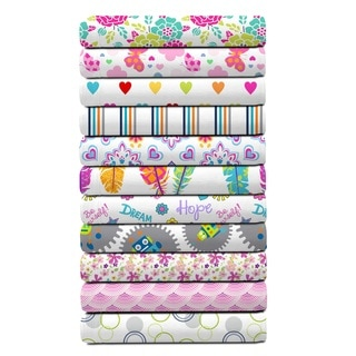 Happiness by design  Supersoft Microfiber Patterned Kid's Sheet Set Twin Size