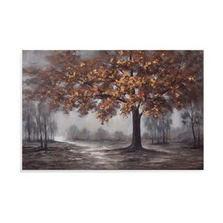 'Fall Landscape' Gallery Wrapped Canvas Art - Brown - 60 x 40