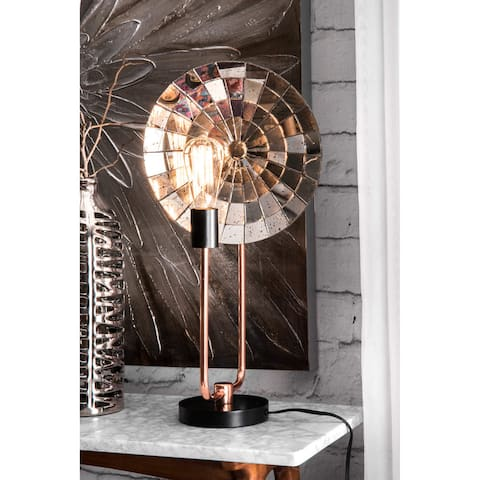 """nuLOOM 24"""" Copper Industrial Edison Table Lamp"""