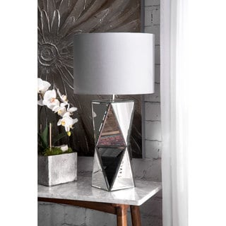 Watch Hill 30-inch Prism Tower Linen Shade Table Lamp