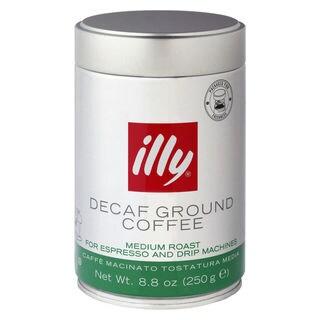 illy Caffe Medium Roast, Green Band 8.8-ounce Decaffeinated Ground Coffee Tins (Set of 2)