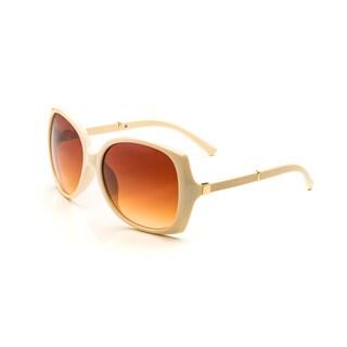 Pop Fashionwear Women's P4118 Leather Arm Oversized Polarized Sunglasses