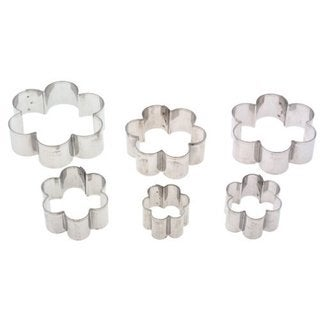 Ateco Daisy Stainless Steel Graduated Cookie Cutters (Pack of 6)