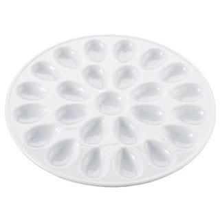 White Porcelain 13-inch Deviled Egg Dish