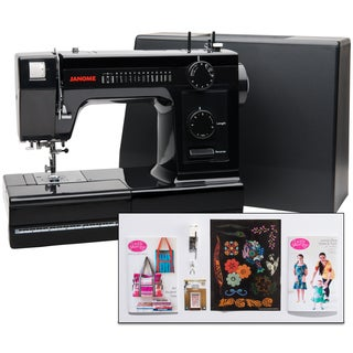 Janome Industrial-Grade Aluminum-Body HD1000 Black Edition Sewing Machine with 14 Stitches, Heavy Duty & Fashion Accessories