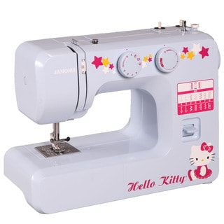Janome 15312 Hello Kitty Easy-to-Use Sewing Machine with Aluminum Interior Frame, Automatic Needle Threader & 3-Piece Feed Dogs