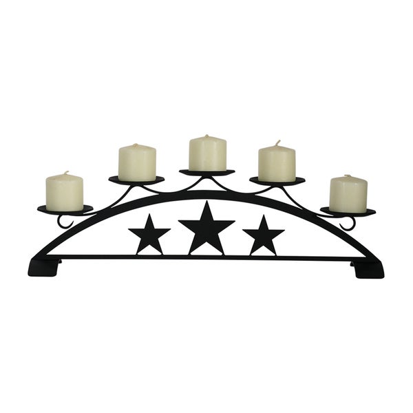 Star Wrought Iron Table Top Pillar Candle Holder