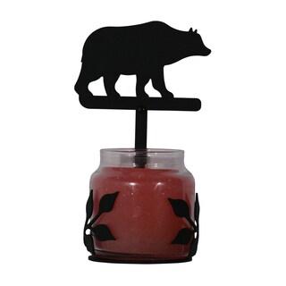 Black Wrought-iron Bear Large Jar Sconce