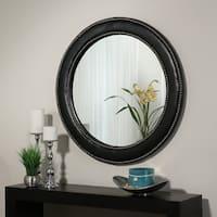 Abbyson Celine Black Leather Wall Mirror