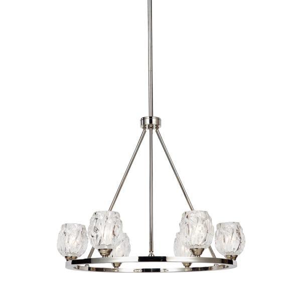 Feiss rubin 6 light polished nickel chandelier free shipping today feiss rubin 6 light polished nickel chandelier aloadofball Choice Image