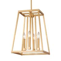 Feiss Conant 4 Light Gilded Satin Brass Pendant