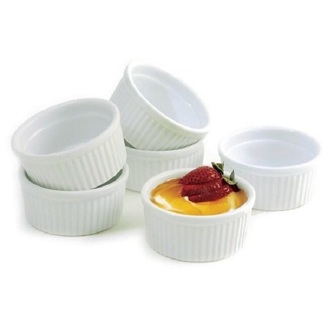 Norpro 4-ounce White Porcelain Ramekins (Set of 6) (White...
