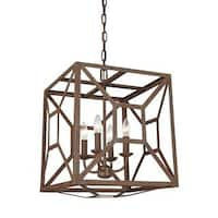 Feiss Marquelle 4 Light Weathered Iron Chandelier