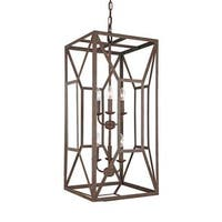 Feiss Marquelle 6 Light Weathered Iron Chandelier