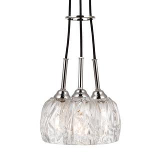 Feiss Rubin 3 Light Polished Nickel Pendant