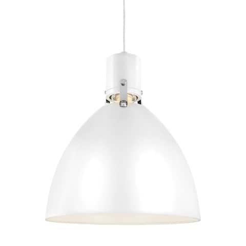 Feiss Brynne 1 Light Flat White Pendant