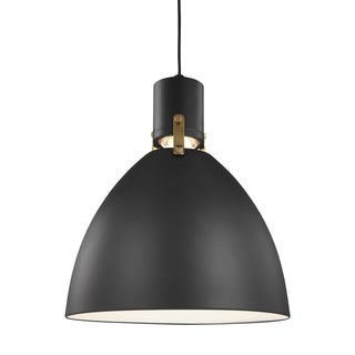 Feiss Brynne 1 Light Matte Black Pendant