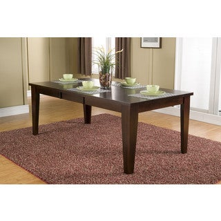 Alpine Havenhurst Merlot-finish Acacia Extension Dining Table