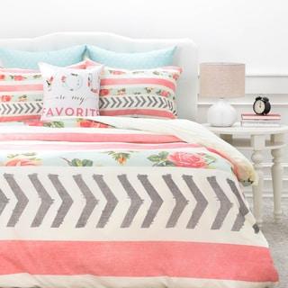 Allyson Johnson Floral Stripes and Arrows Duvet Cover