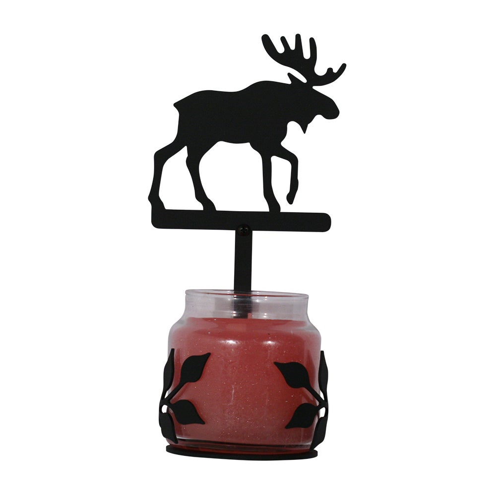 Black Wrought-iron Moose Large Jar Sconce (C-LJS-19-VWR) ...