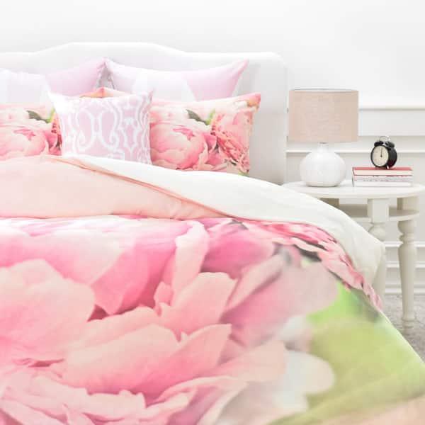 Lisa Argyropoulos Pink Peonies Duvet Cover