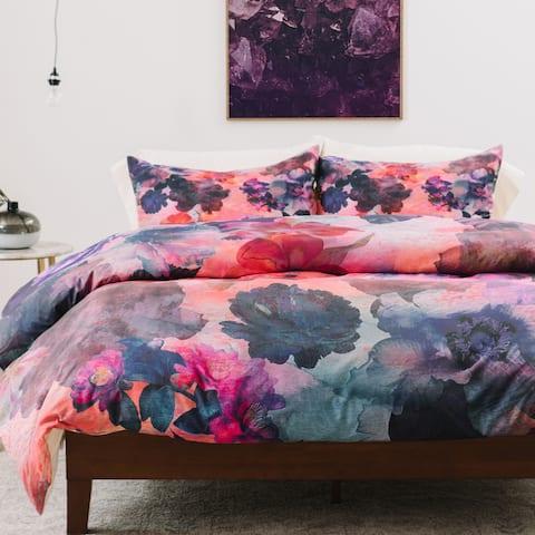 Schatzi Brown Le Fleur Pink 1 Piece Duvet Cover