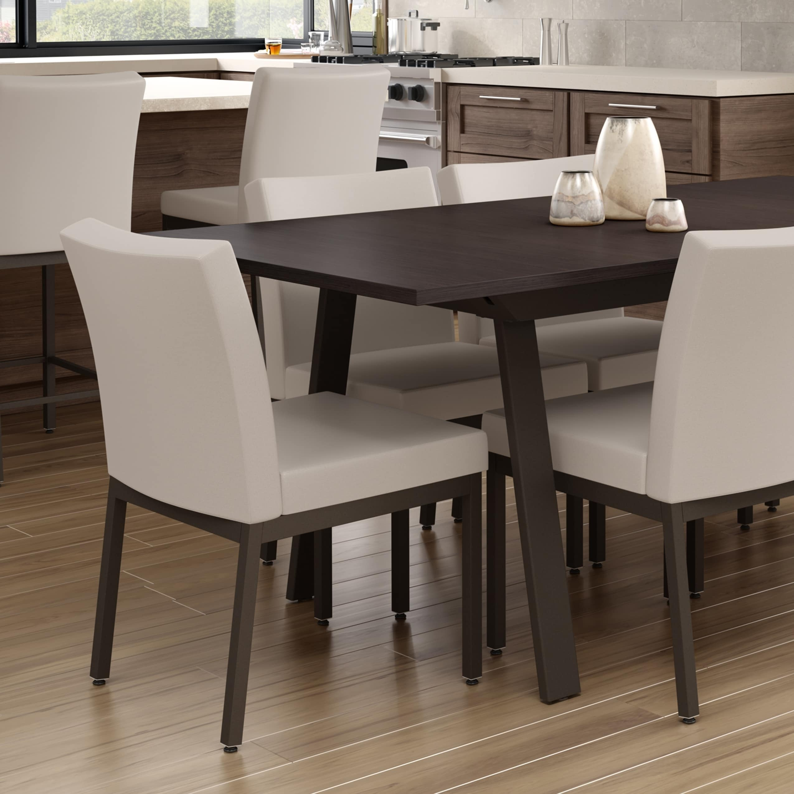 Amisco Perry Metal Chairs And Drift Extendable Table Dining Set